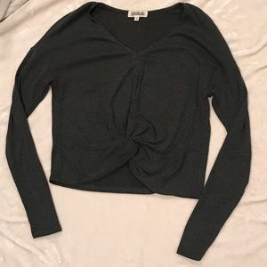 Long Sleeve Knotted Top